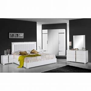 chambre a coucher complete design moderne panel meuble With design chambre a coucher