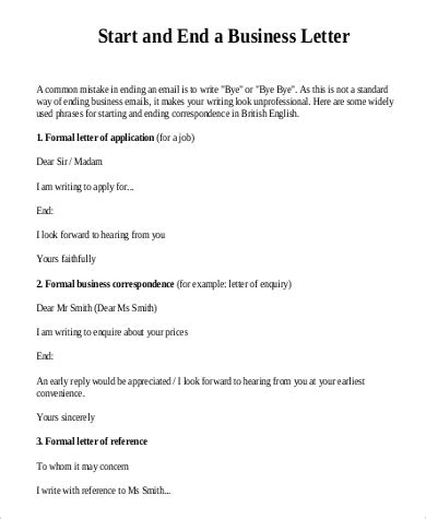 How Start Formal Business Letter Letters Free