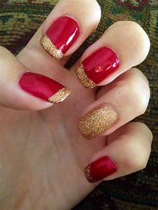 Red And Gold Nail Art Tutorial u00bb Instaglam