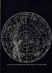 1948 Vintage ASTRONOMY print, northern Hemisphere ...