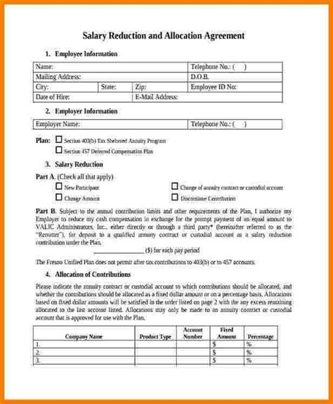 salary contract template sales slip template