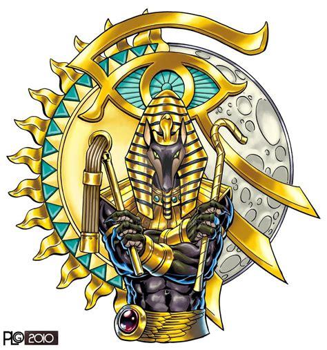 Color Anubis Tattoo Design Sample