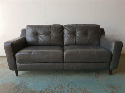 Lovely Day Brand New Sofa by Fabb Sofas Grey Leather Sofa Brand New Condition Sofa