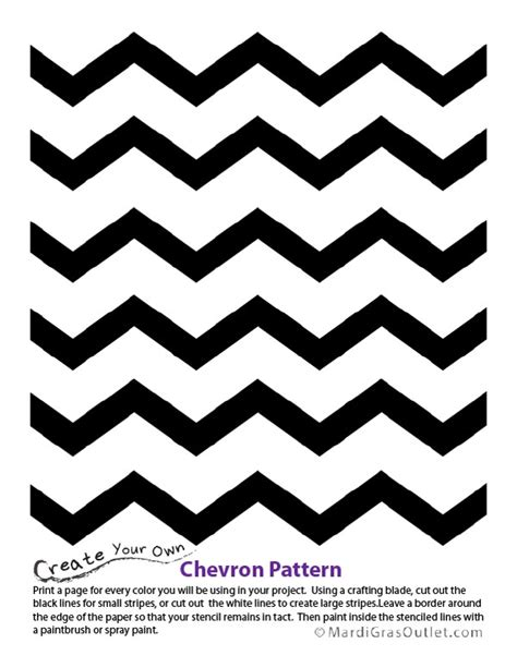 Chevron Template For Painting by Ideas By Mardi Gras Outlet Chevron Pattern Stencil