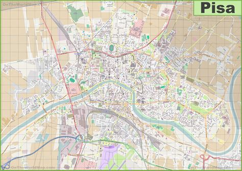 large detailed map of pisa