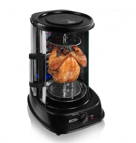 grill vertical rotisserie tower rotating cooking
