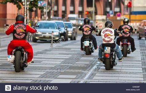 Bikers Of Biker Club 'red Devils' Drive Their Motorcycles
