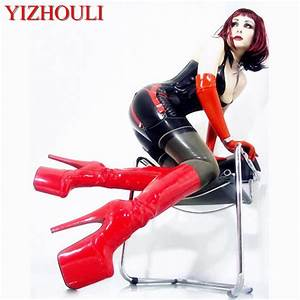 20 Cm High Heels : 20cm high heeled shoes shoes japanned leather knee high ~ Lateststills.com Haus und Dekorationen