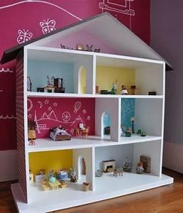 Puppenhaus Für Barbie : puppenhaus selber bauen einfach idee bunt wandgestaltung raeume spielzeug barbie doll house ~ A.2002-acura-tl-radio.info Haus und Dekorationen