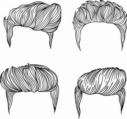Hairstyles Sketch Drawing Vector Hair Male Mens