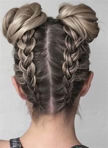 braid to bun hairstyles 2017 2018 in 2020