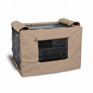 Precision pet indoor outdoor tan crate cover 6000 petco for Outdoor dog crate cover
