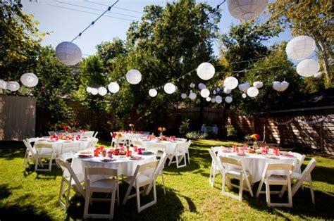 backyard wedding decoration ideas marceladickcom