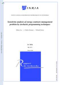 Sensitivity Analysis Of Energy Contracts By Stochastic Programming Techniques  Pdf Download