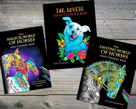 midnight edition amazing world of horses adult coloring