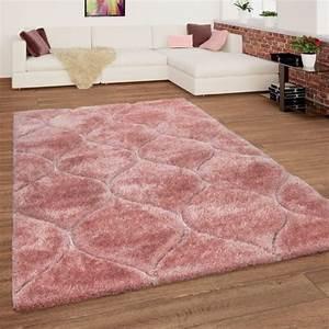 Hochflor Teppich Rosa : shaggy teppich hochflor wellen muster rosa pink mirai ~ A.2002-acura-tl-radio.info Haus und Dekorationen