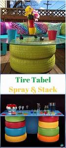 Diy Easy Stacked Tire Table Instructions