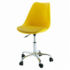 Chaise à Roulettes : chaise de bureau roulettes jaune bristol maisons du monde ~ Teatrodelosmanantiales.com Idées de Décoration