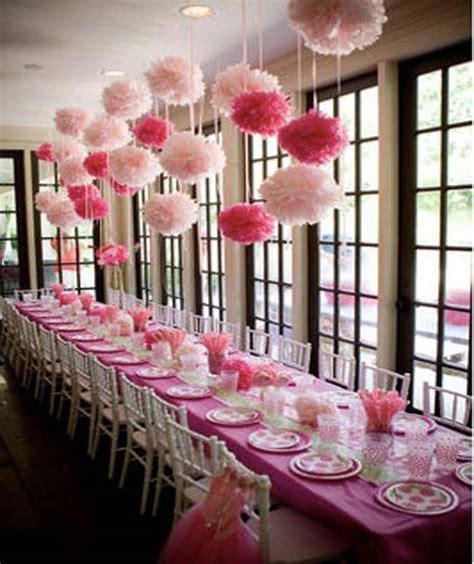 decoration bapteme theme princesse deco pompom mariage bapteme fushia bapteme fushia fushia et roses