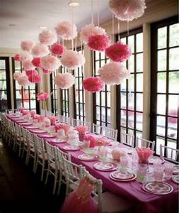 Deco Rose Pale : deco pompom mariage bapteme rose fushia d coration de mariage pinterest rose fushia ~ Teatrodelosmanantiales.com Idées de Décoration