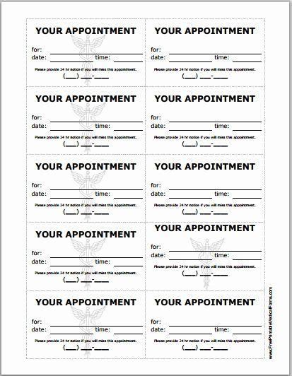 printable appointment reminder cards  patient