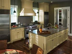 Painted kitchen cabinet ideas hgtv for Kitchen colors with white cabinets with framed art wall arrangement