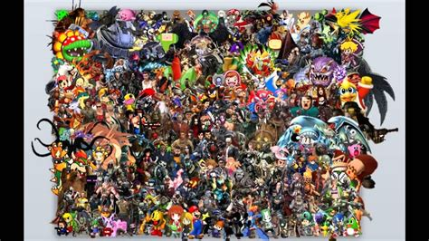 amazing video game character collage youtube