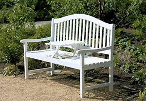 Gartenbank wei holz mit klapptisch 081845 for Holz gartenbank weiß