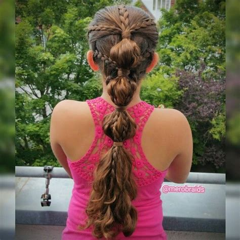 bubble ponytail  braided accents cool hairstyles kids hairstyles hair styles