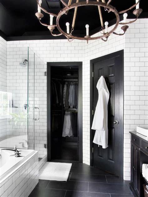 timeless black  white master bathroom makeover hgtv
