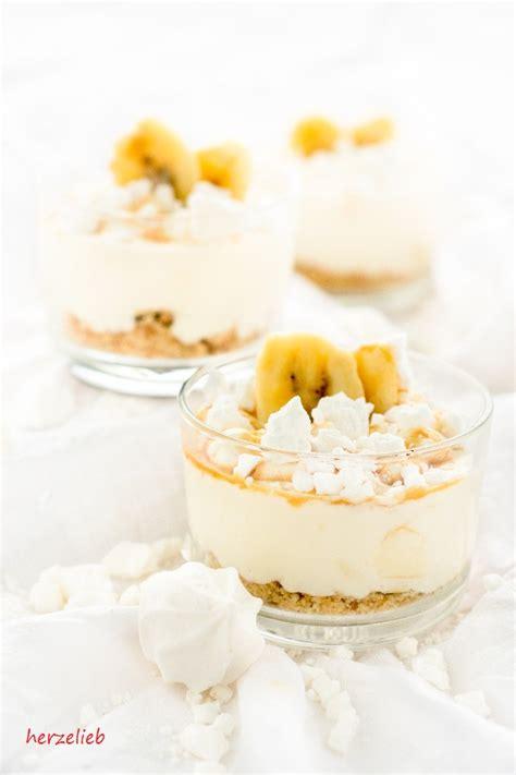 bananen caramel dessert rezept fuer gluecksgefuehle herzelieb