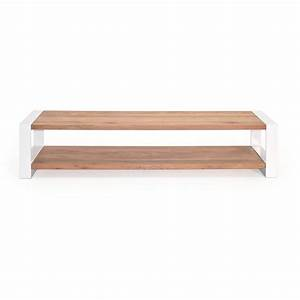 Lowboard Eiche Weiß : lowboard mio eiche massivholz metall wei 180cm ~ Indierocktalk.com Haus und Dekorationen