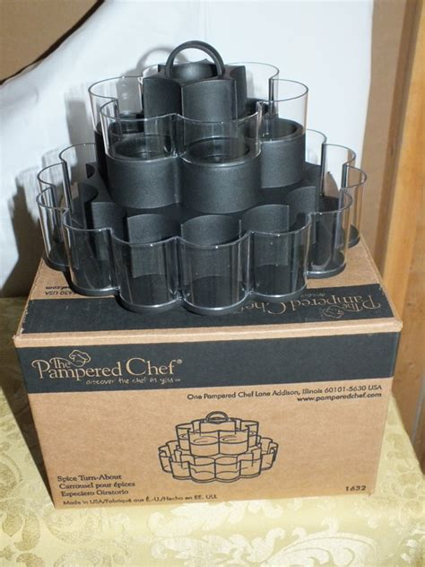 Pered Chef Spice Rack by Free Pered Chef Turn About Spice Rack Kitchen