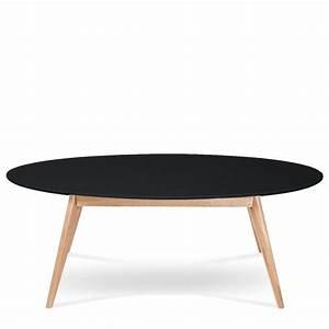 Table Basse Noire Design : table basse ovale skoll esprit scandinave drawer ~ Carolinahurricanesstore.com Idées de Décoration