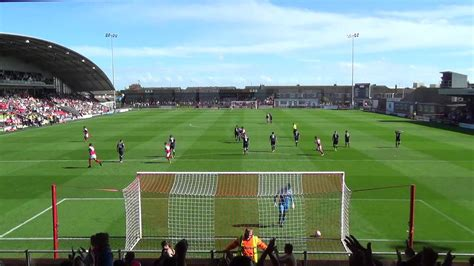WONDERFUL STRIKE: Jamie Proctor's first goal for Fleetwood ...