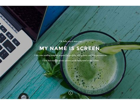 templates scroll page bootstrap screen onepage scroll bootstrap template
