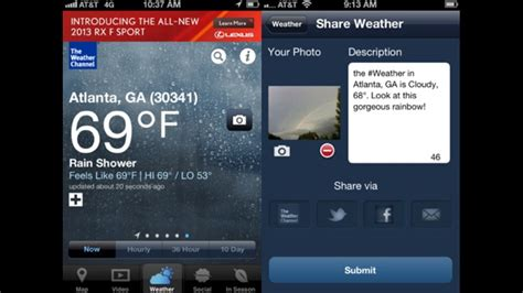 weather channel app for iphone the weather channel app for iphone gets major redesign