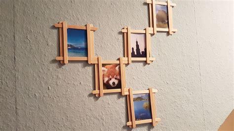 diy popsicle stick multi photo frame youtube