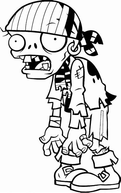 Zombies Plants Coloring Pages Pirate Bandana Zombie