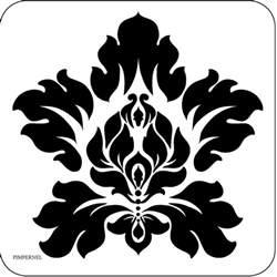 Simple Damask Stencil Pattern