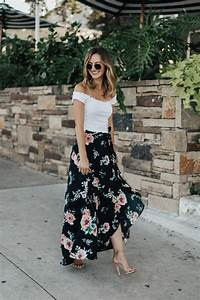 Floral Wrap Maxi Skirt - LivvyLand Austin Fashion and