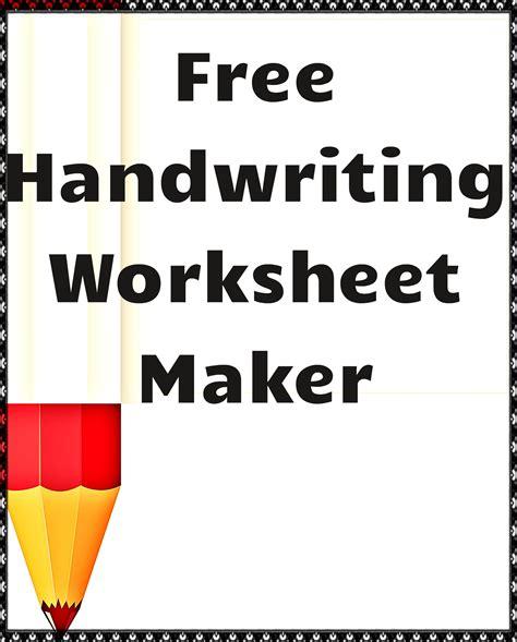 free handwriting worksheet maker august for kindergarten free handwriting