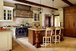 french country kitchens ideas in blue and white colors With best brand of paint for kitchen cabinets with french country wall art