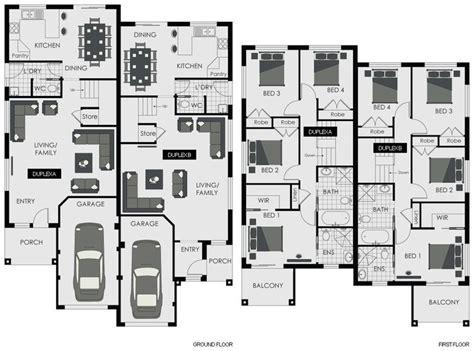 two story duplex floor plans floor plan blaxland floorplan new home builders sydney
