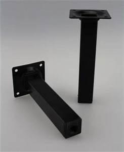 Möbelfüße Metall Eckig : m belfuss tischbein sofafuss schwarz eckig 25x25mm h he 300mm kaufen bei ms beschl ge ~ Watch28wear.com Haus und Dekorationen
