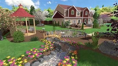 Landscape Landscaping Stream Designs Software 3d Vivid