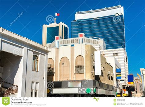 Typical Buildings In The Centre Of Manama, Bahrain Stock ...