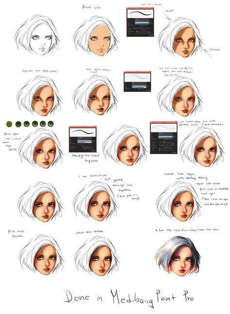 rykys medibang paint face tutorial medibang paint