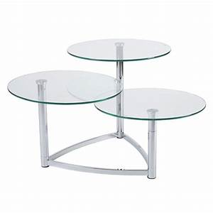 cascade 3 tier swivel table modern end tables eurway With three tier glass coffee table