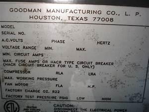 Goodman Heatpump T-stat Upgrade